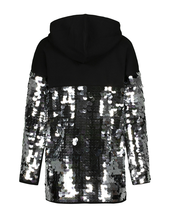 Black Sweatshirt with Sequins