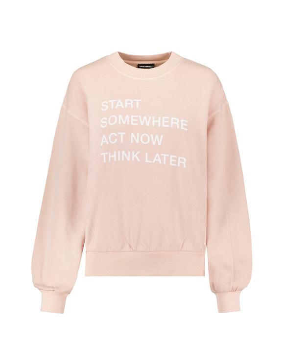 Light Pink Printed Sweatshirt