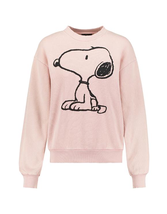Sweat Rose Imprimé Snoopy