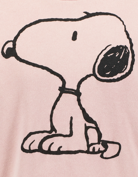 Pinkes Sweatshirt mit Snoopy-Aufdruck
