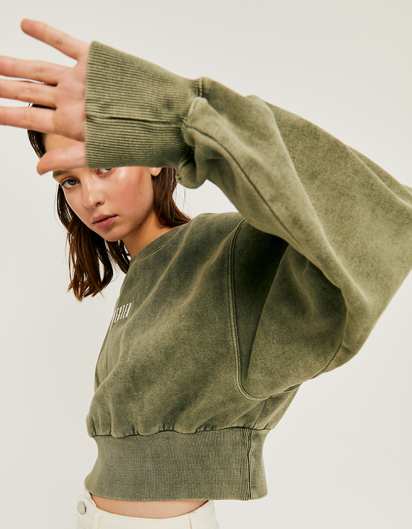 Verwaschenes kurzes Sweatshirt | TALLY WEiJL Online Shop