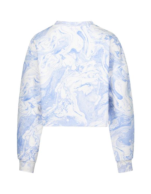 Blaues Tie & Dye Sweatshirt
