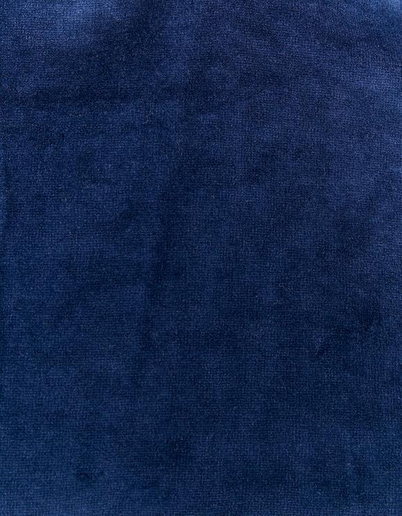 Felpa Blu in Velluto con Slogan