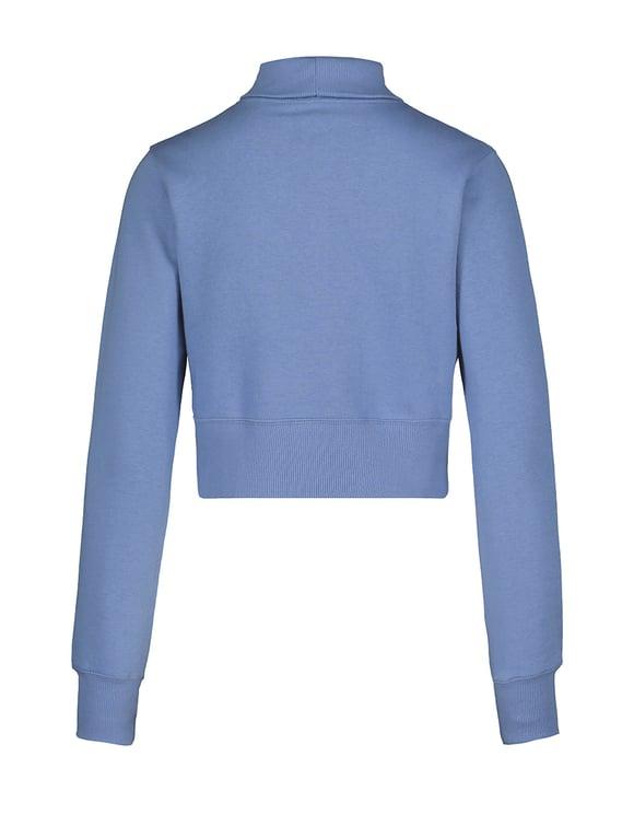 Blue Cropped Sweatshirt