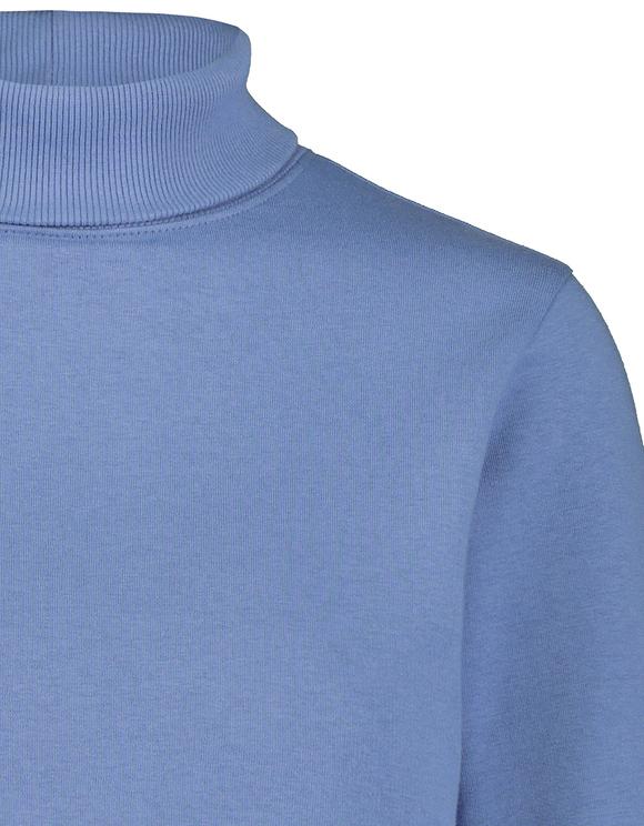 Blaues kurzes Sweatshirt