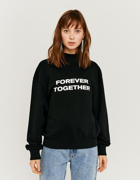 Schwarzes Sweatshirt mit Aufdruck | TALLY WEiJL Online Shop