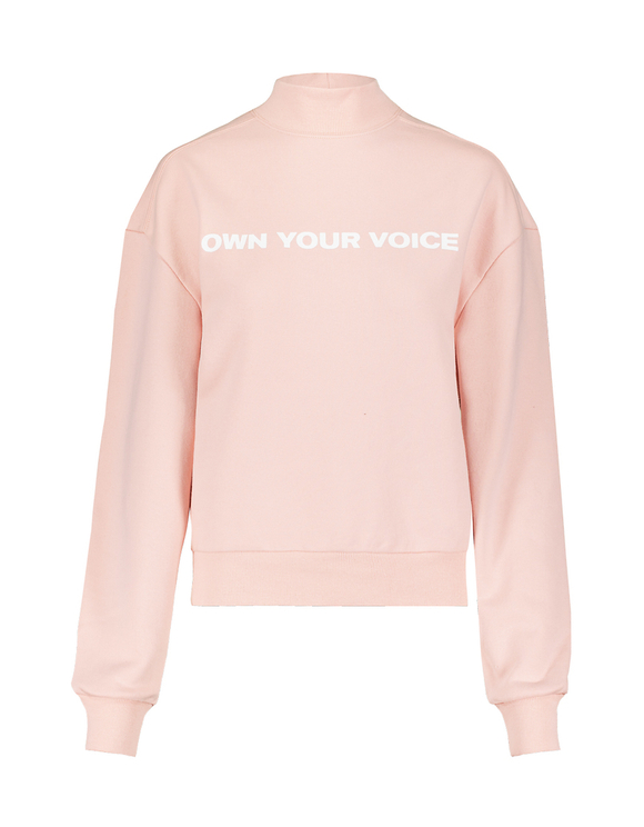 Pink Sweatshirt with Slogan