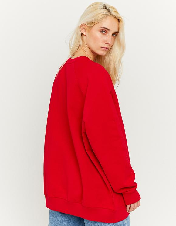 Red Wide Sweatshirt