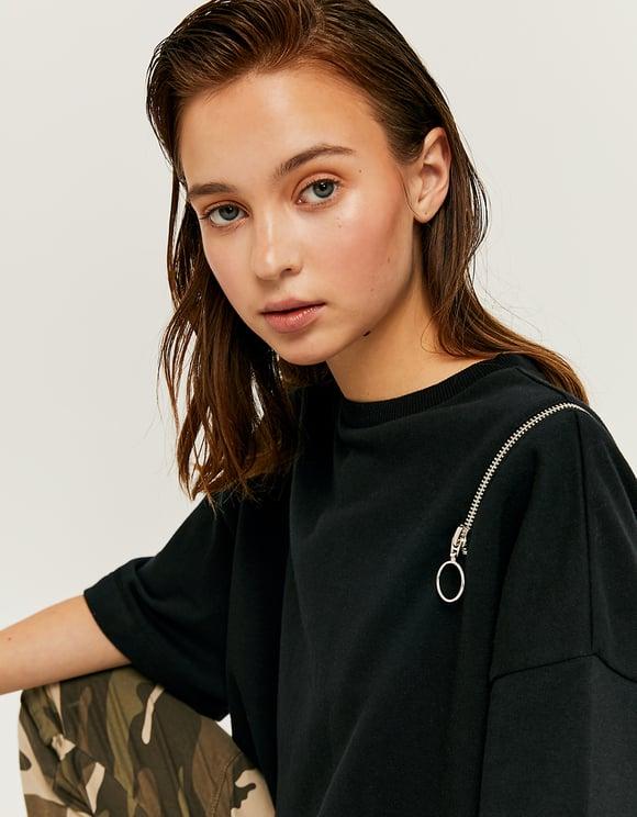 Black Sweat T-Shirt