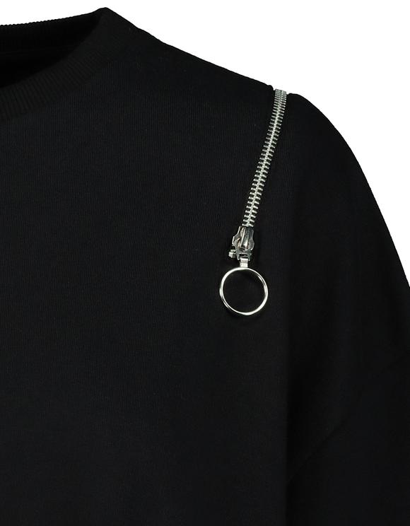 T-Shirt Noir en Molleton