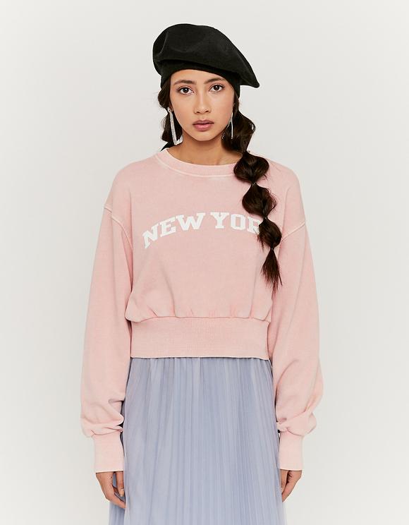 Pink Printed Sweatshirt