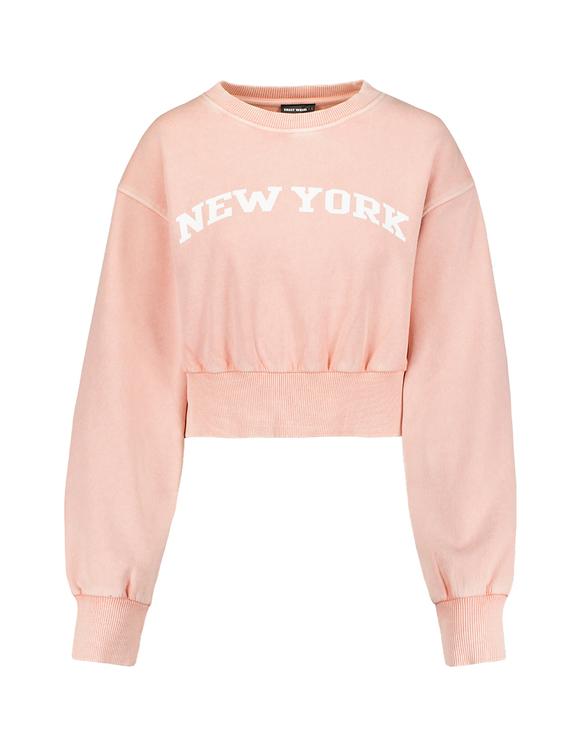 Pinkes Sweatshirt mit Aufdruck