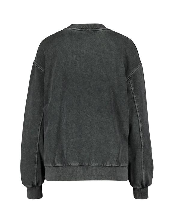 Black Acid Wash Sweatshirt
