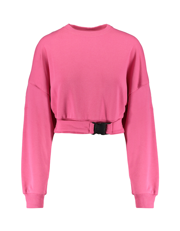 Neon Pink Sweatshirt with Buckle