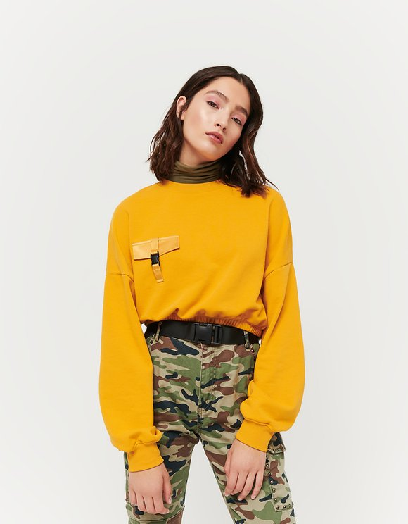 Ocher Sweatshirt with Buckle