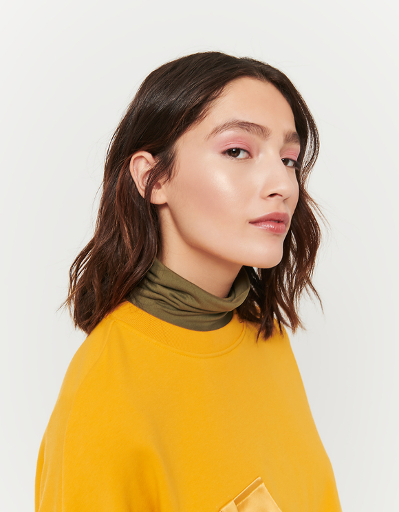 Ocker Sweatshirt mit Schnalle