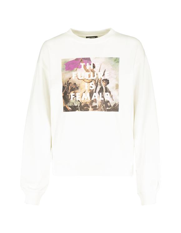 Meme White Sweatshirt