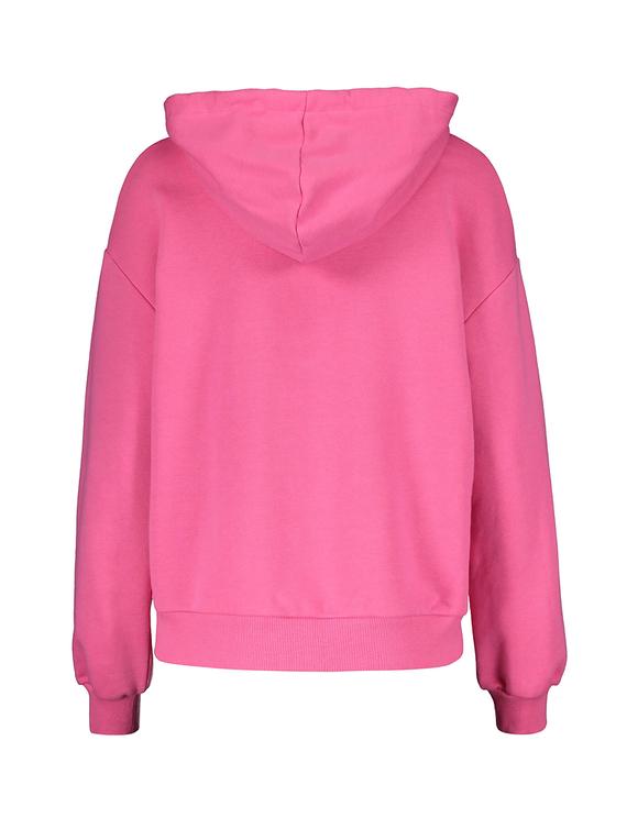 Neonowo-różowa bluza z kapturem
