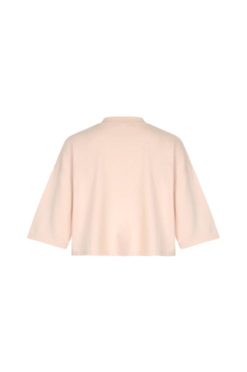 Rosa, kurzes Sweatshirt