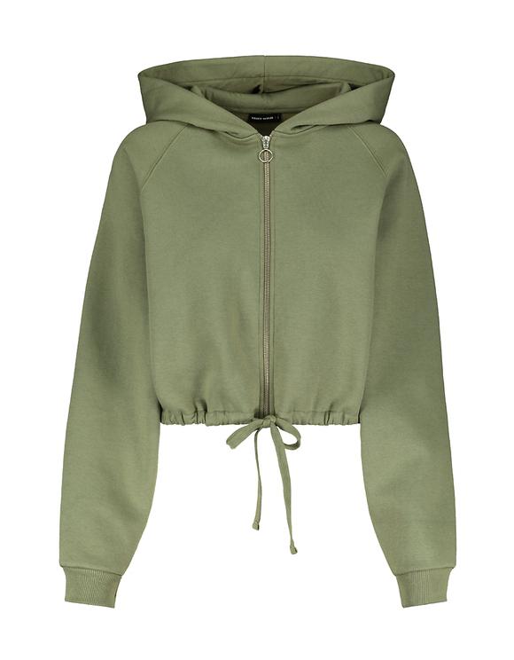 Khaki Zipped Hoodie