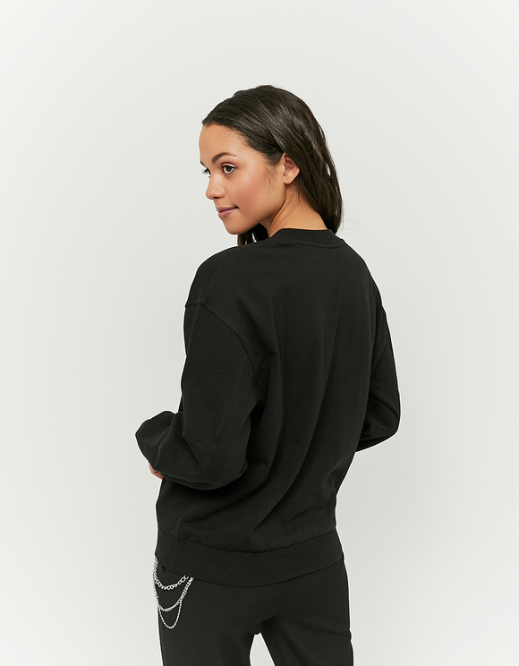 Black Space Print Sweatshirt
