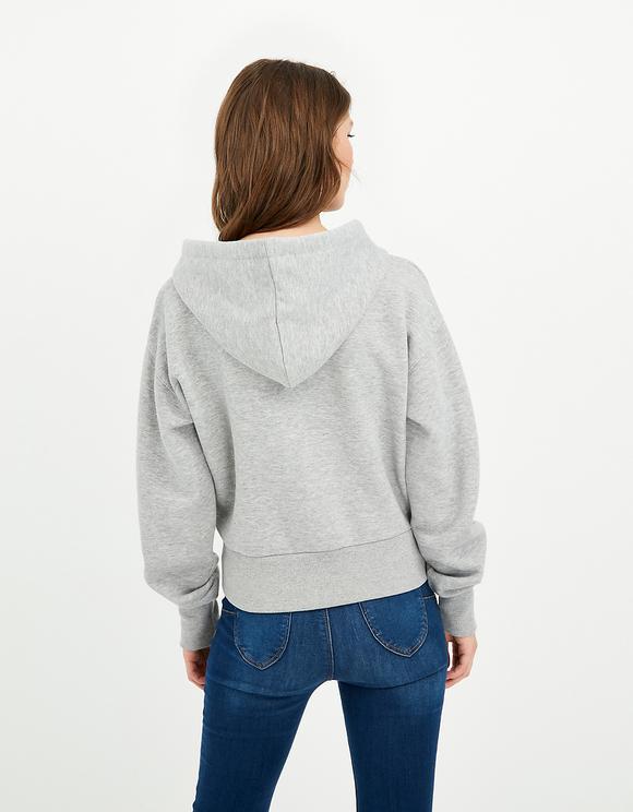 Grey Hoodie with Zip