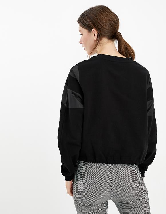 Sweatshirt with Windbreaker Detail