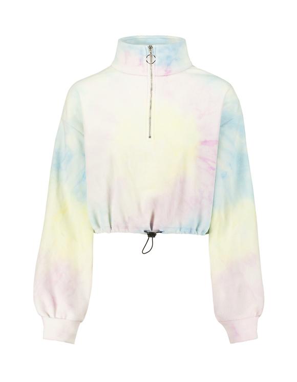 Tie & Dye Cropped Sweatshirt