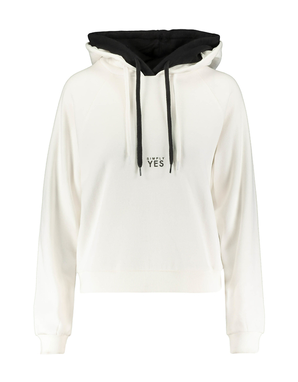 White Double Hooded Hoodie
