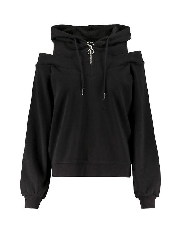 Black Cold Shoulder Hoodie