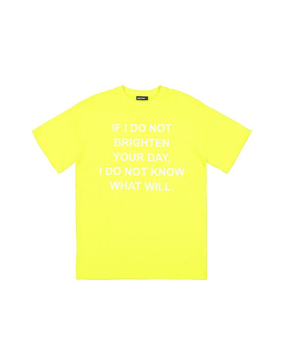 T-Shirt Long Jaune Fluo Imprimé