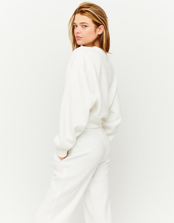 White Knitted Sweatshirt
