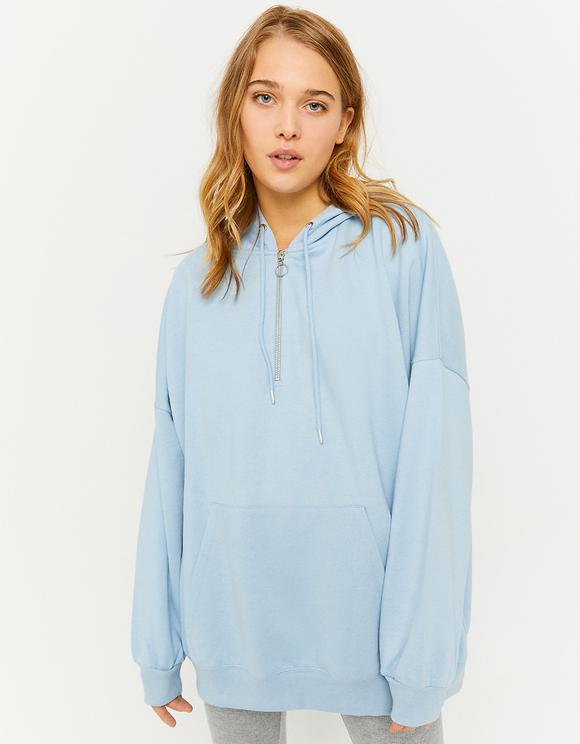 Blue Oversize Hoodie