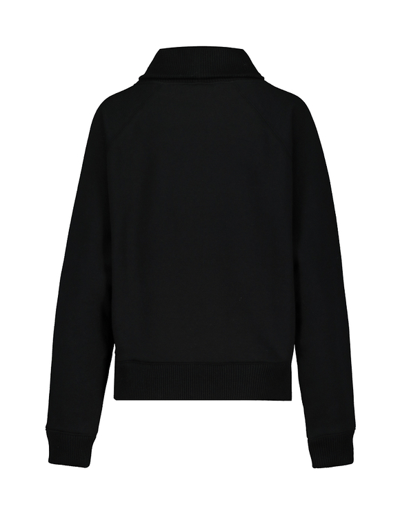 Black High Neck Sweatshirt