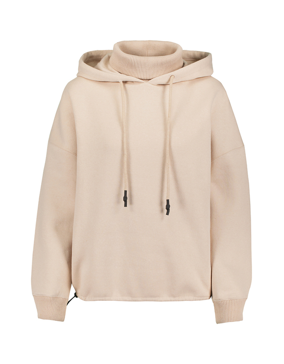 Pink Hoodie with Knitted Detail