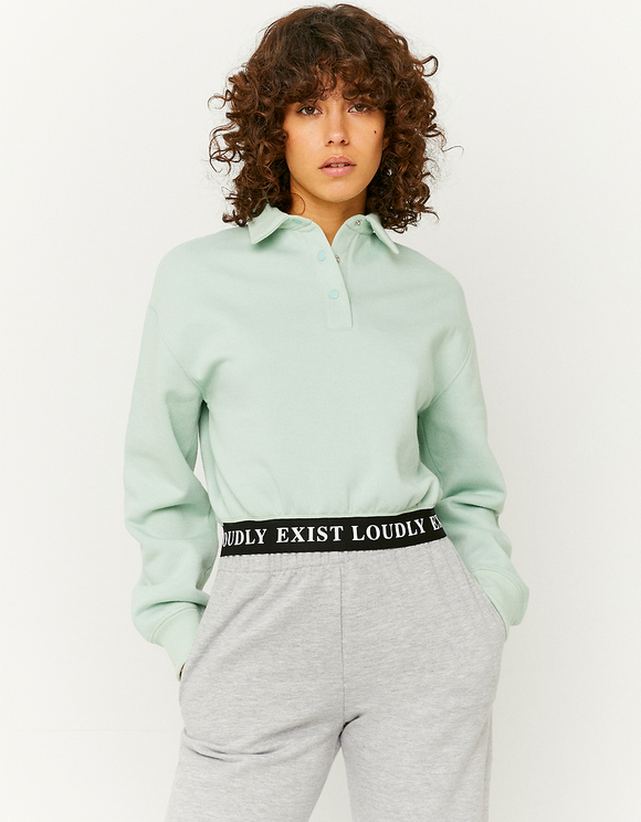 Green Polo Design Sweatshirt
