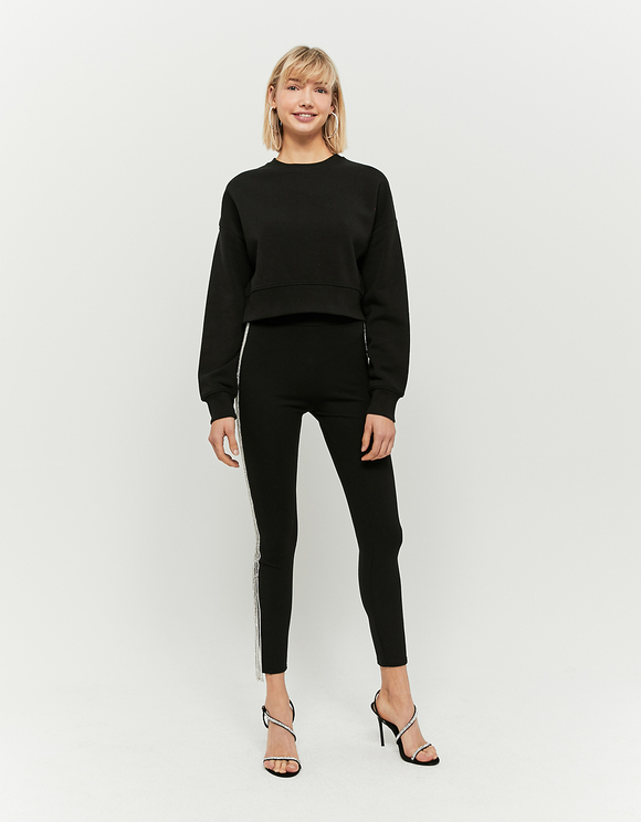 Black Sweatshirt with Back Zip