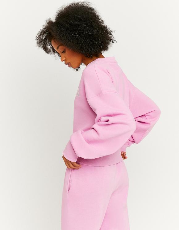 Różowa bluza z nadrukiem