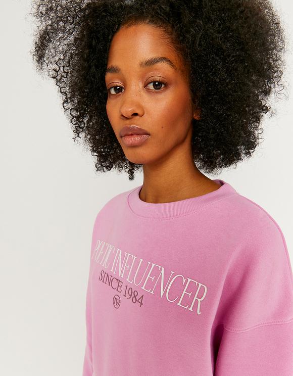 Printed Dropped Shoulders Sweatshirt