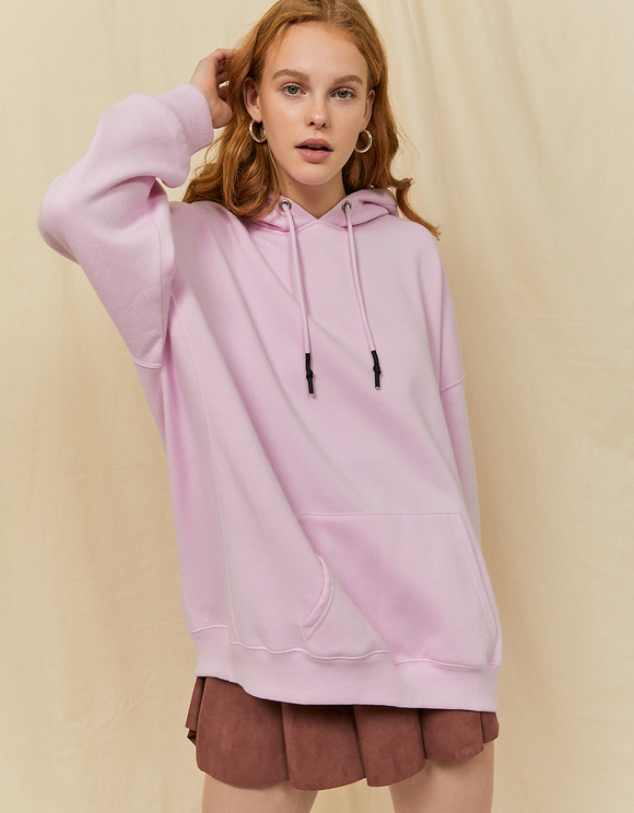 Pinkes Oversize Sweatshirt