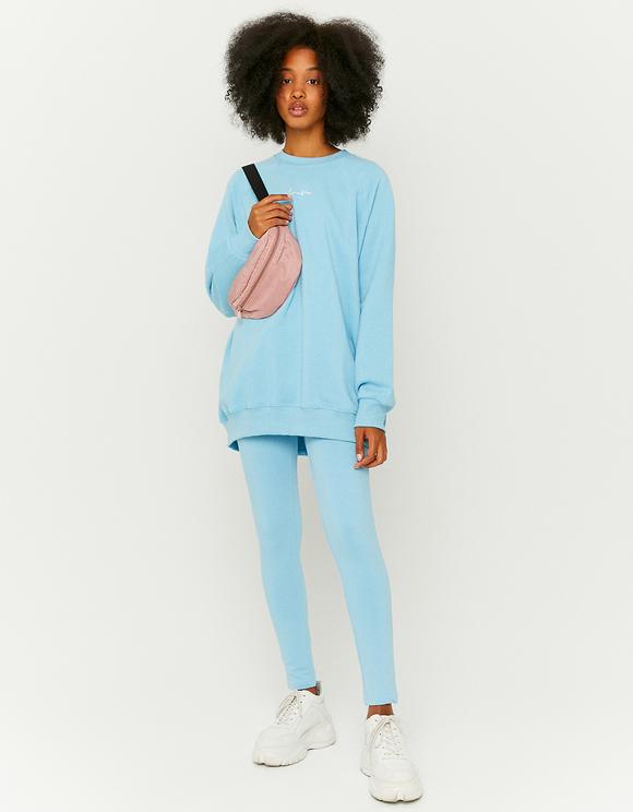 Blue Loose Sweatshirt