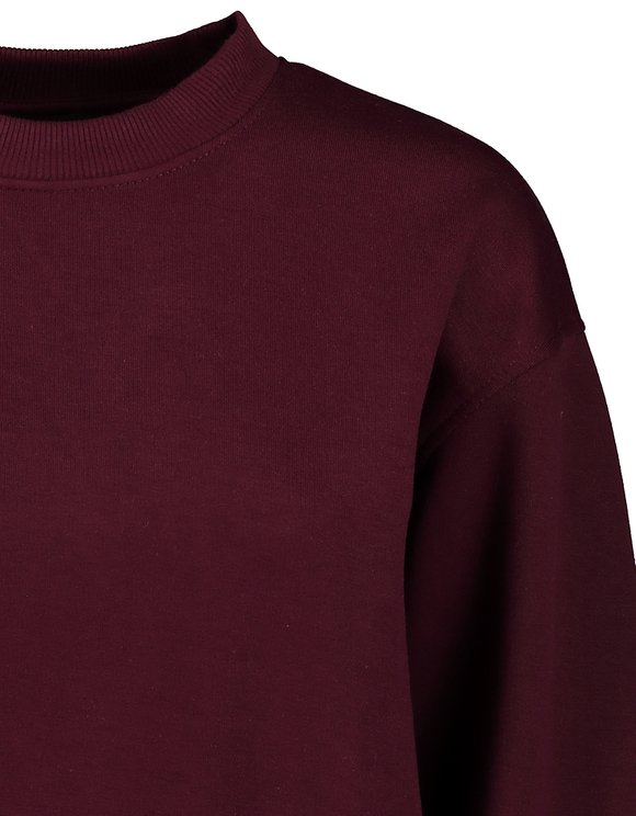 Burgundy Loose Sweatshirt