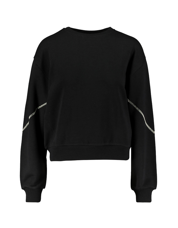 Black Sweatshirt with Rhinestones