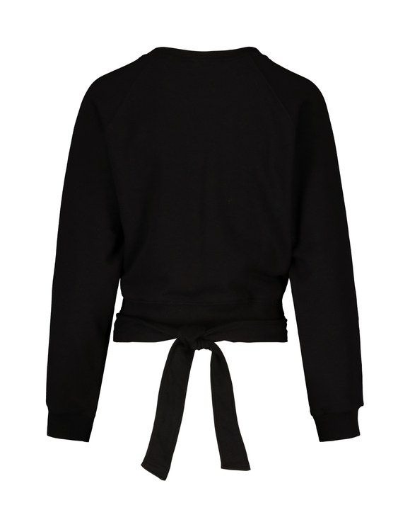 Black Criss Cross Sweatshirt