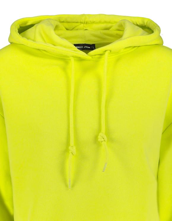 Lime Cropped Hoodie