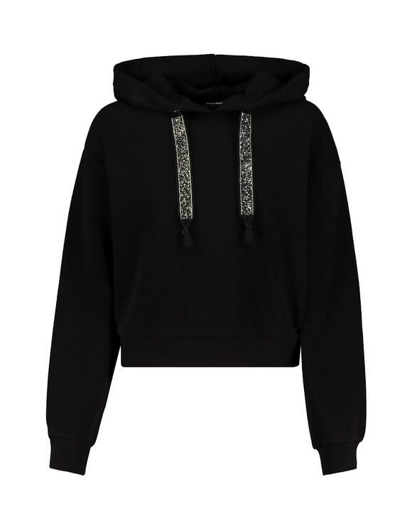 Black Hoodie with Strass