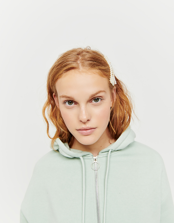Green Cropped Hoodie