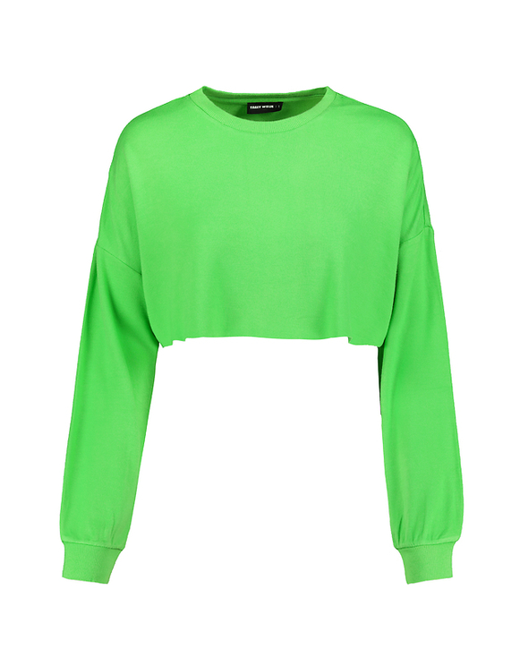 Green Cropped Sweat