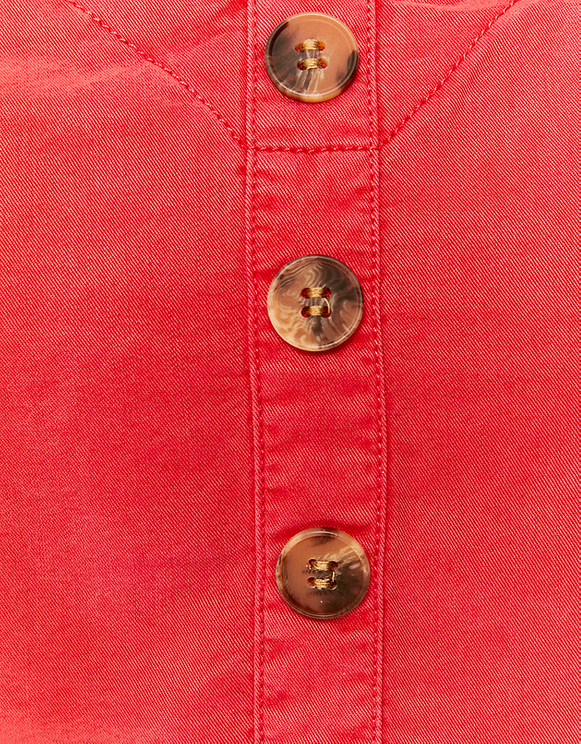 Red Top with Buttons