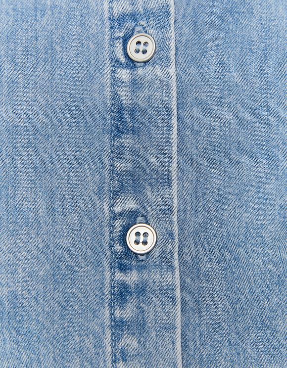 Puff Sleeve Denim Shirt